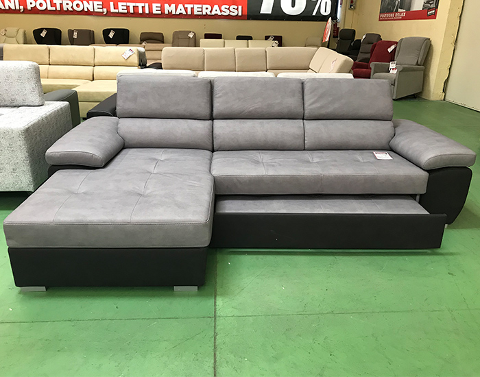 Divani Divani Outlet. Stunning Living Room Grey Fabric Sectional ...