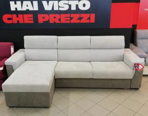 Mod. Lipari divano letto con penisola e materasso